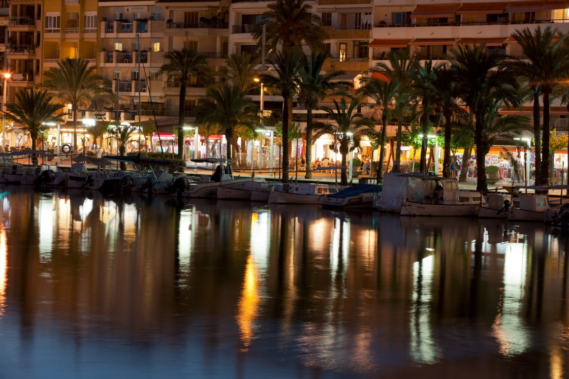 'Alcudia marina at night. Majorca, Spain' - Mallorca