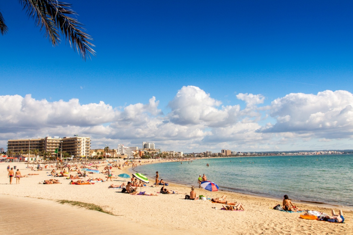 'Platja de Palma Beach, Mallorca, Balearic Islands, Spain' - Mallorca