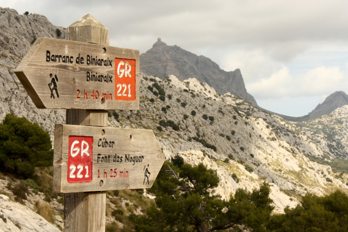 wooden signpost in Mallorca